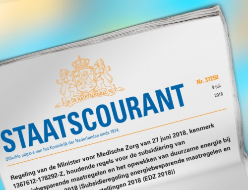 Tijdelijke subsidiëring van energiebesparende maatregelen