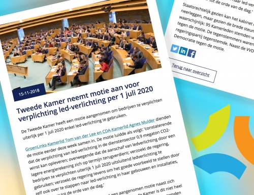 Tweede Kamer neemt motie aan voor verplichting led-verlichting per 1 juli 2020
